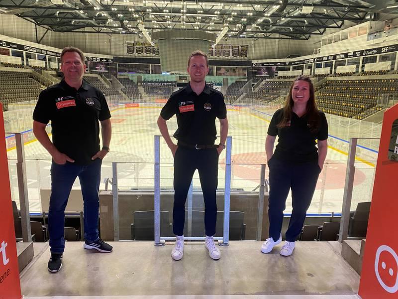 Terje Haukali, Eirik Hogstad og Paula Hewitt.