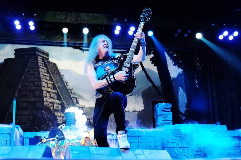 Janick Gers, en av Iron Maidens tre gitarister.