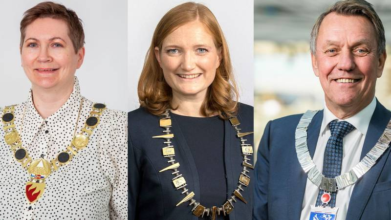 Ordfører Lena Bergeng (AP, Sør-Varanger), ordfører Gunnar Wilhelmsen (AP, Tromsø) og ordfører Ida Pinnerød (AP, Bodø)