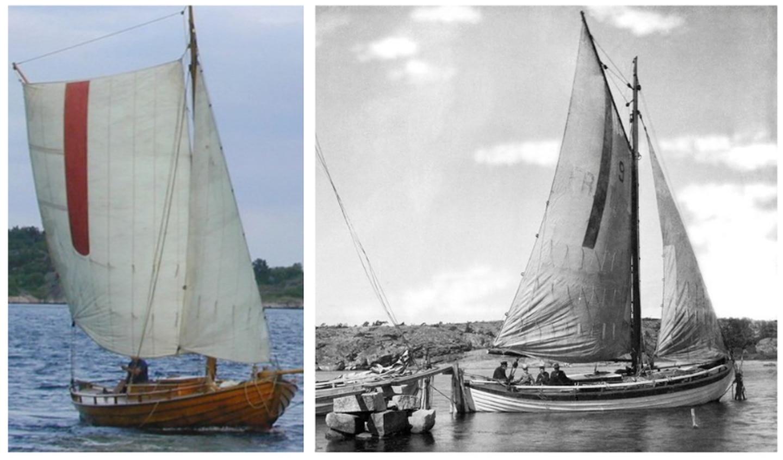Hvalerskøytene var kjent for å være veldig gode, og raske, losbåter. Kjennetegnet for losbåtene var en rød stripe i bomullsseilet.