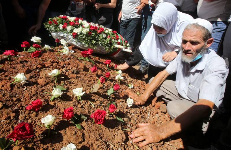 Algeries tidligere president Abdelaziz Bouteflika ble gravlagt i en nedtonet seremoni på El-Alia-gravplassen i Alger 19. september.