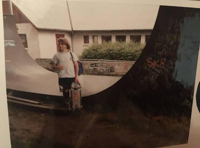 Stian Linnes i Danmark, muligens i 1989.