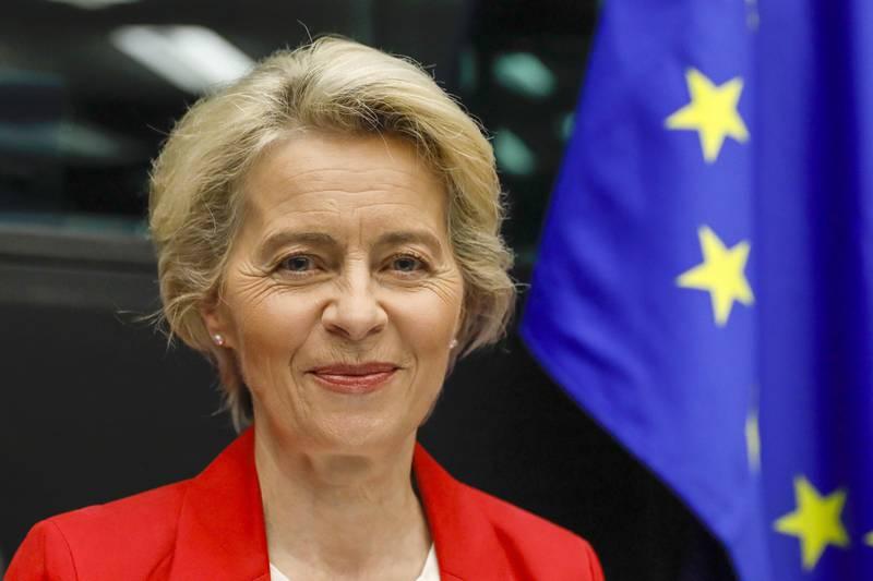 EU-kommisjonens leder Ursula von der Leyen holdt onsdag sin årlige tale til parlamentet om unionens tilstand. Foto: Julien Warnand / AP / NTB