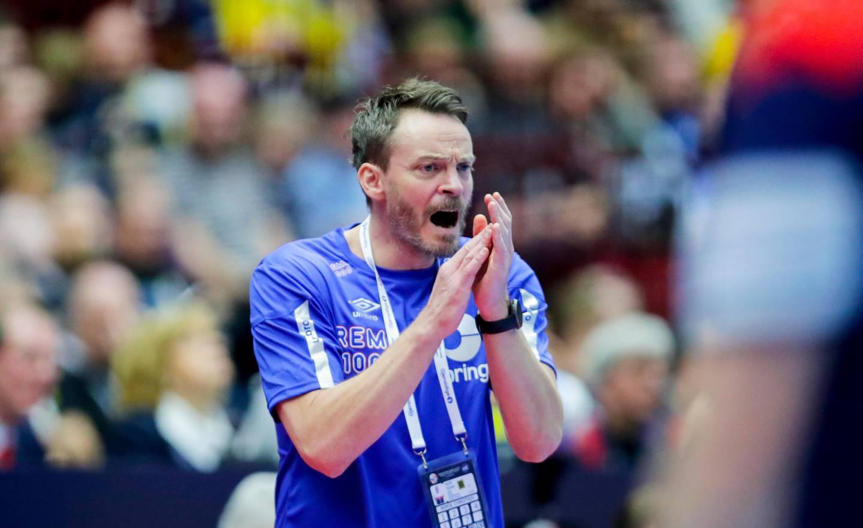 Malmø, Sverige 20200119. Landslagssjef Christian Berge  under kampen mellom Norge og Sverige i Malmø Arena.Foto: Vidar Ruud / NTB