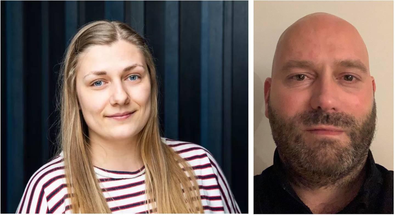 Hannah Berg og Lars Tveiten, 1. og 2. stortingskandidat for Rødt Østfold