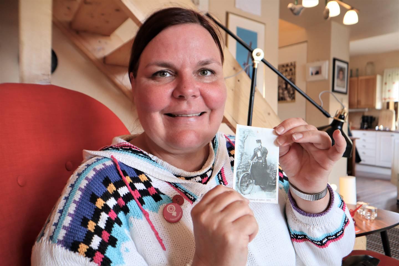 Leder i Drammen Kvinnesaksforening, Hilde Glenne.