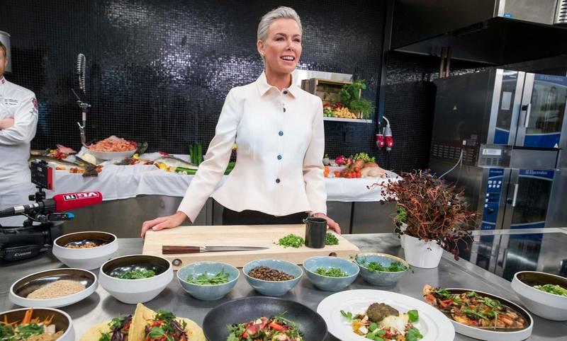 Oslo  20190117. Gunhild Stordalen presenterer den nye EAT-rapporten hos Bama i Oslo. Foto: Terje Pedersen / NTB scanpix