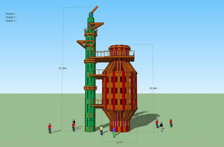 Modell for prosjektet The Ephemeral Tower