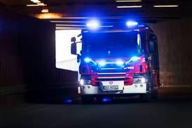 Brann i Oslo-bygård
