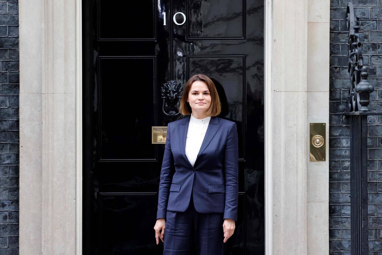 Tirsdag var opposisjonsleder Svetlana Tikhanovskaja i London for å møte statsminister Boris Johnson.