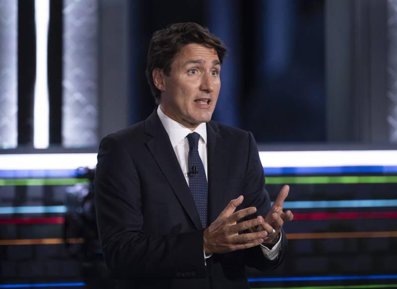 Statsminister og leder for Det liberale partiet, Justin Trudeau, kjemper for gjenvalg. Foto: Justin Tang / The Canadian Press via AP / NTB