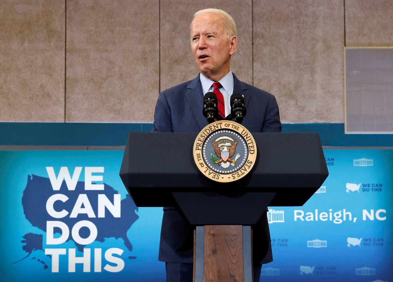 USAs president Joe Biden setter nå inn store ressurser på å få opp vaksineringen i USA.