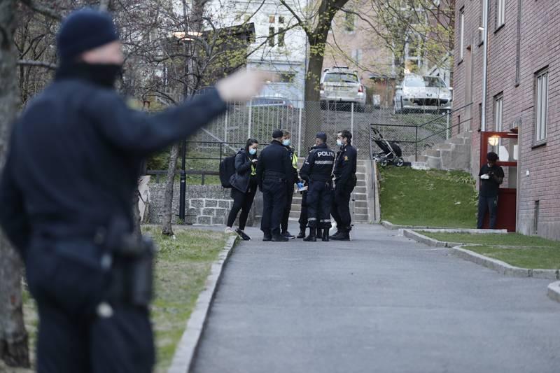 En mann ble i april knivstukket på åpen gate på Bjølsen. Gjerningspersonen løp fra stedet og ble aldri funnet. Foto: Berit Roald / NTB