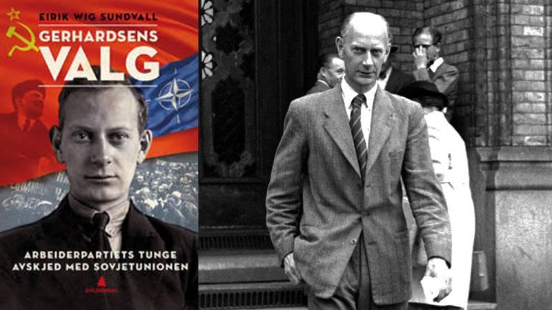 Historiker Eirik Wig Sundvall har skrevet bok om Arbeiderpartiets avskjed med Sovjetunionen og kommunismen. Til høyre: Einar Gerhardsen forlater en debatt på Stortinget 17. juni 1948. FOTO: NTB scanpix