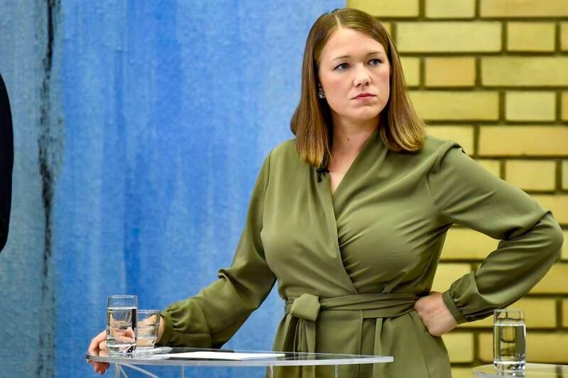 MDG-leder Une Aina Bastholm under partilederdebatt i Stortingets vandrehall. Foto: Naina Helén Jåma / NTB
