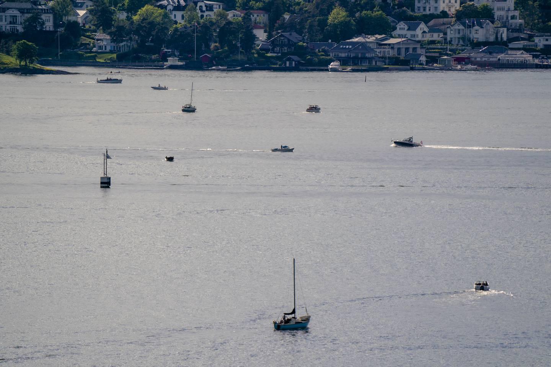 Mange nordmenn har valgt å tilbringe ferien på sjøen i år. Bildet er tatt ved Oslofjorden.