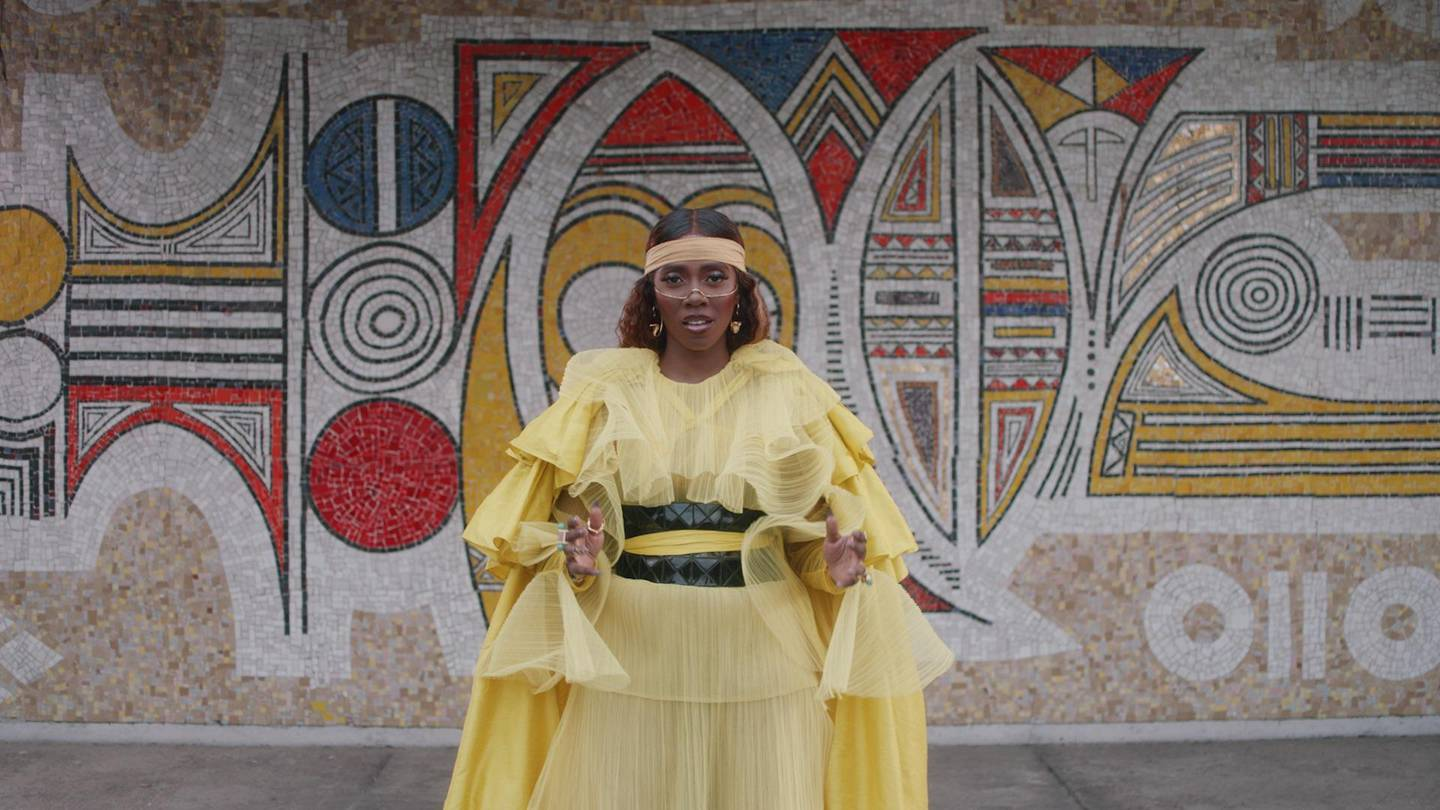 """Tiwa Savage in """"Keys to the Kingdom"""" from the visual album BLACK IS KING, on Disney+"""
