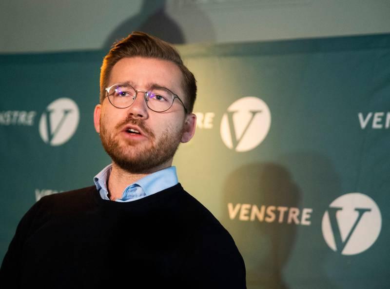 OSLO, NORGE 20201001.  Sveinung Rotevatn, leder av Venstres programkomité presenterer førsteutkastet til stortingsvalgprogram for 2021-2025. Foto: Berit Roald / NTB