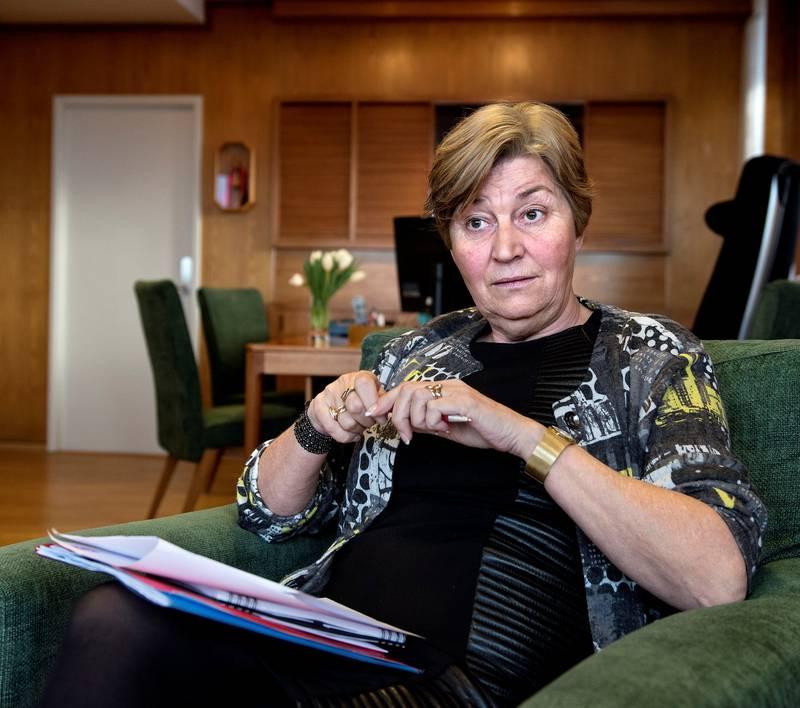 LO-leder Gerd Kristiansen avviser Fagforbundets forslag om varig vern av Lofoten, Vesterålen og Senja.