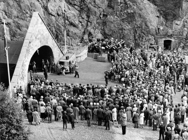 Spiralen ble åpnet I 1961 av kong Olav, samtidig som Drammen feiret 150-års jubileum.