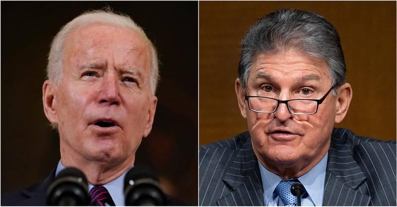 Joe Biden og Joe Manchin. Montasje: AP/AFP/NTB
