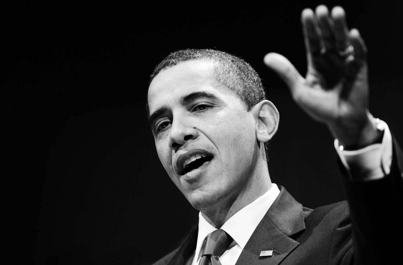 Bilde av Barack Obama som taler, tatt av Rune Hellestad.