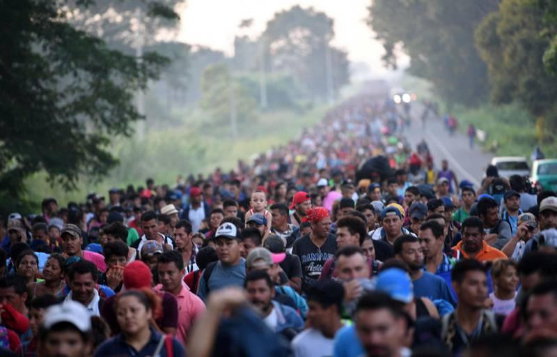 Flere tusen mennesker gikk i oktober i fjor nordover fra Honduras mot USA i en av flere såkalte migrantkaravaner. Også i år har migranter fra Honduras, Guatemala og El Salvador lagt ut på ferden nordover.