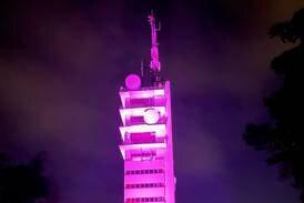 Derfor blir Ullandhaugtårnet rosa