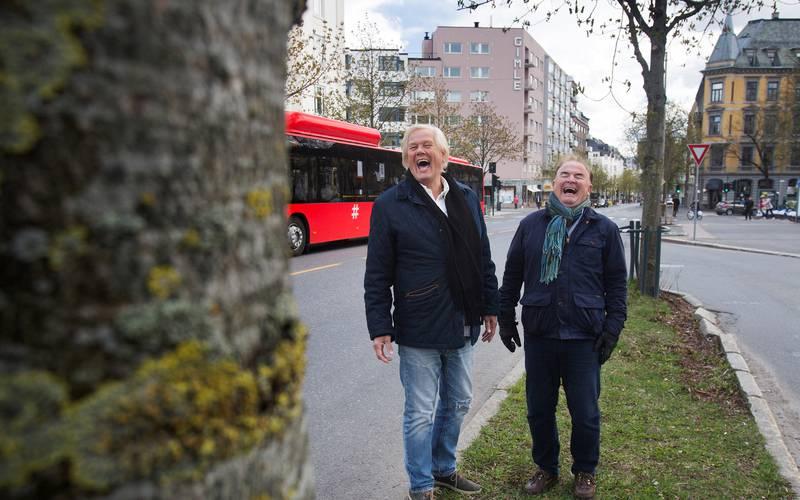 Nei: Tidligere byråd Per Klausen og Ole Jacob Kjendlie fra Bygdøy Frogner Arbeiderparti vil ikke ha trikken til Bygdøy allé. Men kastanjetrærne vil de beholde.