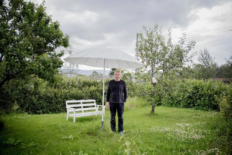 Rune Christiansen. Forfatter. Vestfossen.  Foto: Hilde Unosen