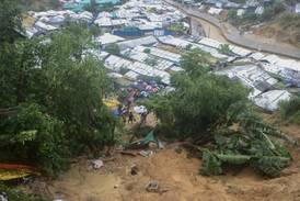 Kraftig monsunregn rammet verdens største flyktningleir i Bangladesh