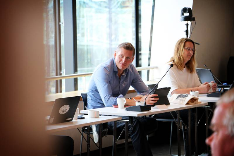 Gruppeleder i Stavanger Ap, Dag Mossige. Her sammen med varaordfører Dagny Sunnanå Hausken (Sp).