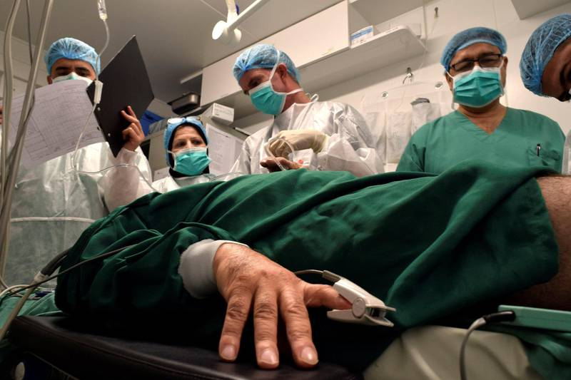 Antibiotikaresistens er et økende og globalt problem. Her en pasient på Leger uten grensers sykehus i Øst-Mosul.