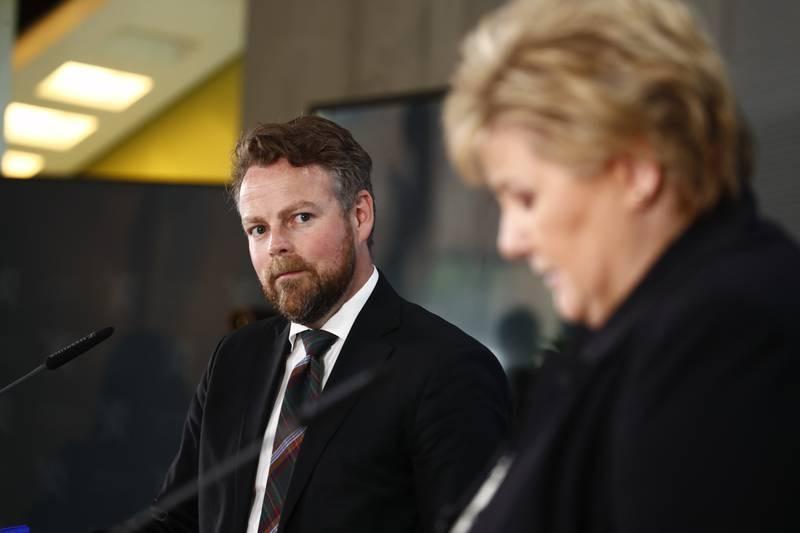 Torbjørn Røe Isaksen (H) understreket tirsdag at arbeidet med å rydde opp etter trygdeskandalen ikke er ferdig.