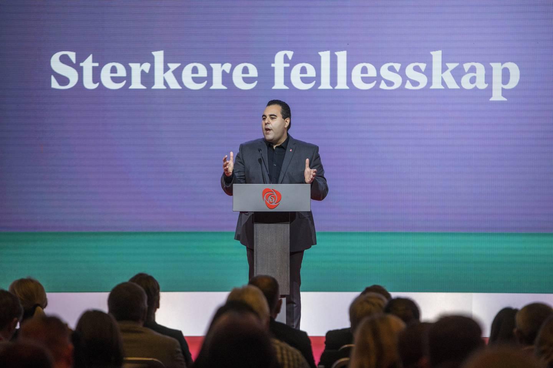 Arbeiderpartiets Masud Gharahkhani her fra landsmøte i 2019.