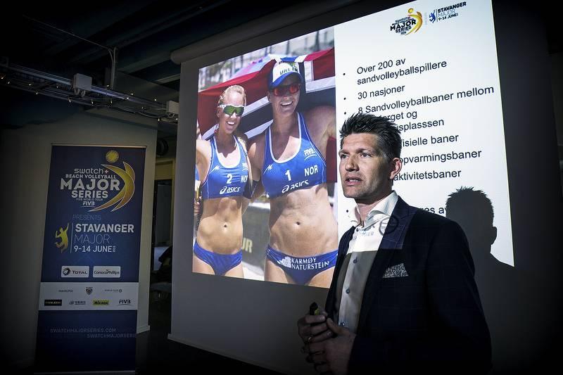 Sveinung Byberg, daglig leder for World Tour Stavanger, mener han har funnet rammen som sikrer økonomien for neste år. Her fra lanseringen av årets arrangement. Foto: Roy Storvik