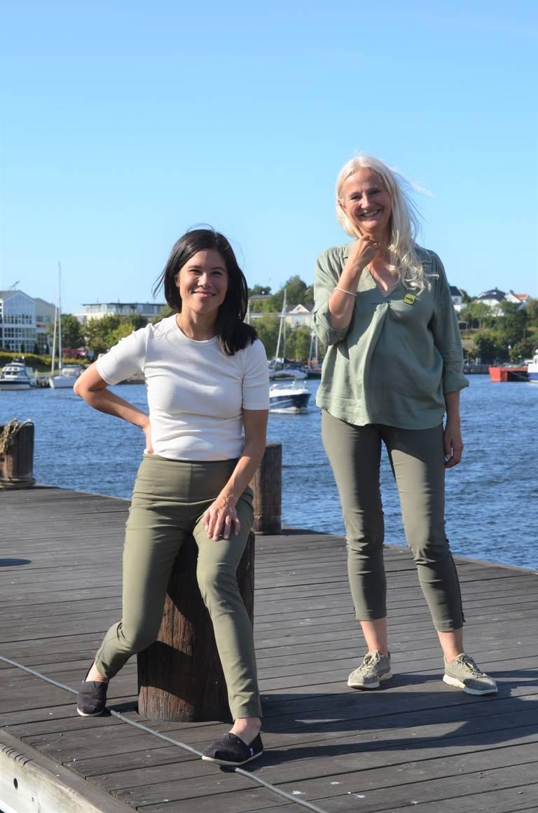 MDGs Lan Marie Berg og Benedicte Lund er partiets førstekandidater i Oslo og Østfold. – I byene finnes mye av løsningen på klimakrisa. Vi er trygge på at det er bra med bilfrie sentrum, er kandidatene enige om.