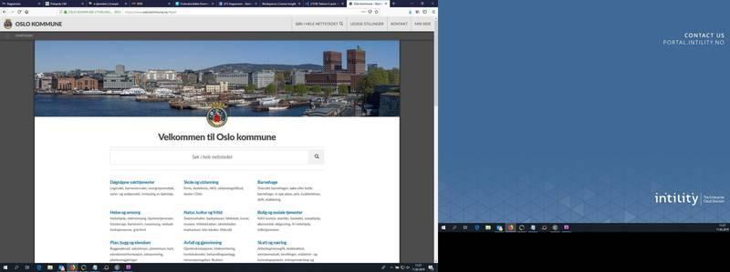 Oslo kommunes hjemmeside på nett. Nettsidene er en av faktorene Forbrukerrådet har vurdert.