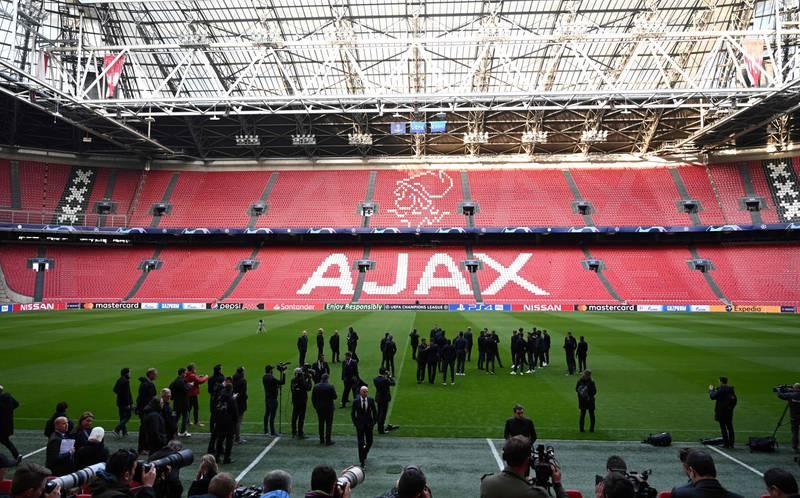 Hjemmebanen til Ajax, Johan Cruyff Arena, i Amsterdam.