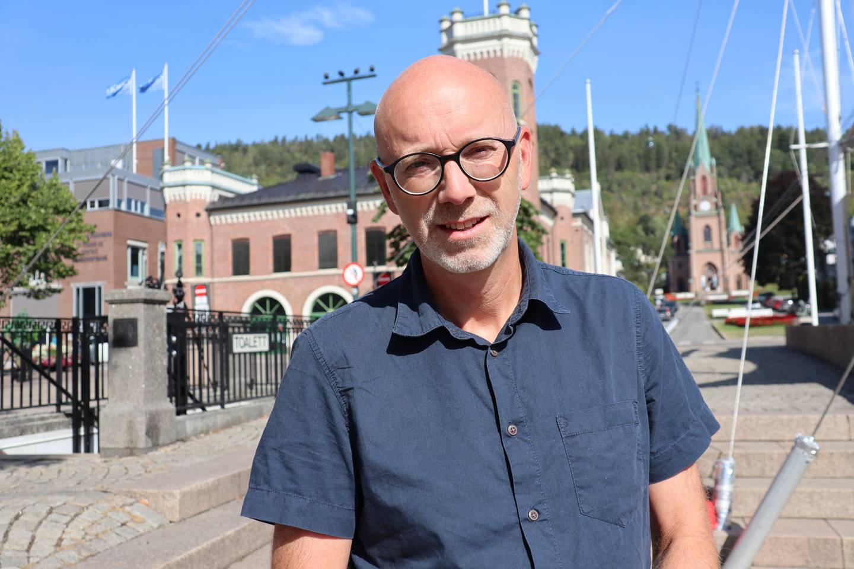 Leder for Utdanningsforbundet i Drammen, Christian Evenshaug.