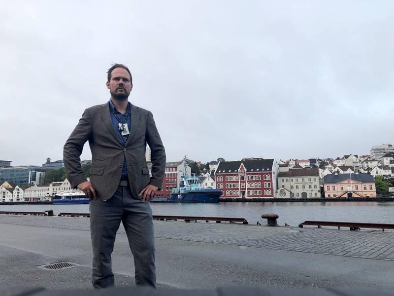 Per Anders Røsjorde, lokallagsleder i Politiets fellesforbund Sør-Vest og leder av Unios lokalstreik i Rogaland.