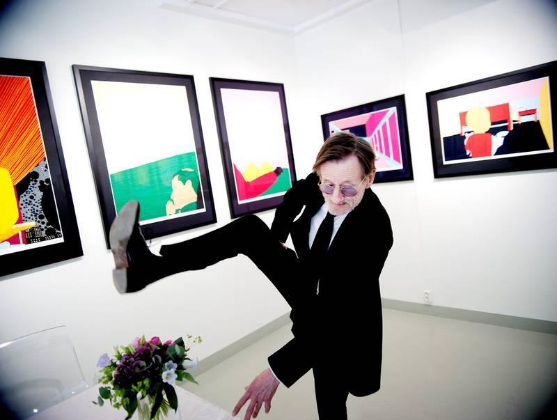 Pushwagner danser hele veien til banken med god hjelp av medias oppmerksomhet. Her fra en tidligere utstilling. FOTO: LUCA KLEVE RUUD