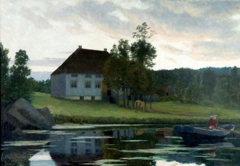 Utstillingen i Stavanger kunstmuseum presenterer Kitty Kielland som en nyskapende kunstner. «Efter Solnedgang» (1895) introduserte stemningsmaleriet og markerte overgangen til nyromantikken i Norge.FOTO: TERJE TVEIT/ROGALAND KUNSTMUSEUM