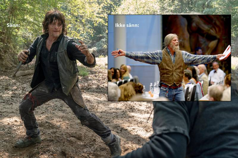 """This image released by AMC shows Norman Reedus, left, and Samantha Morton in a scene from """"The Walking Dead."""" The AMC channel says its series will wrap with an 11th season spanning 24 episodes and two years. When """"The Walking Dead"""" is laid to rest in late 2022. (Jace Downs/AMC via AP)"""