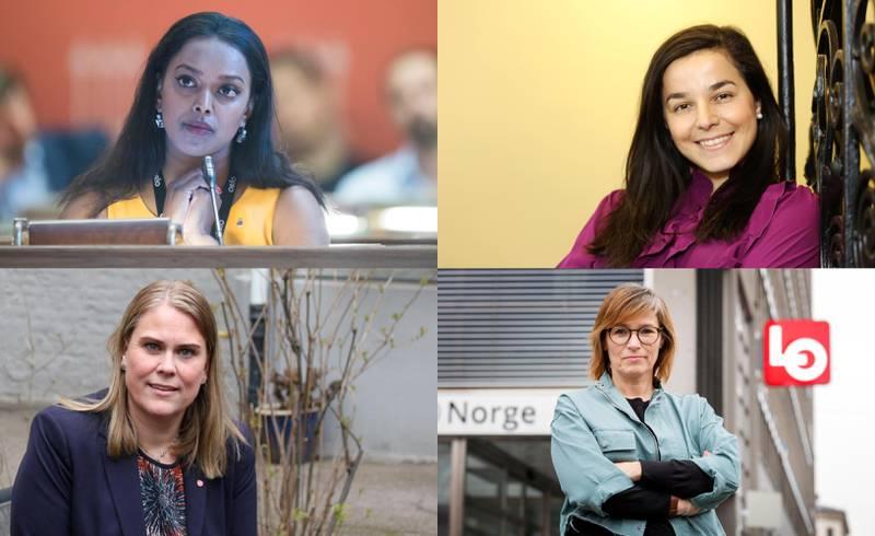 Kamzy Gunaratnam, Zaineb Al-Samarai, Siri Gåsemyr Staalesen og Trine Lise Sundnes er blant navnene nominasjonskomitéen i Oslo Ap nå må vurdere om de vil sette på sikker plass på stortingslista.