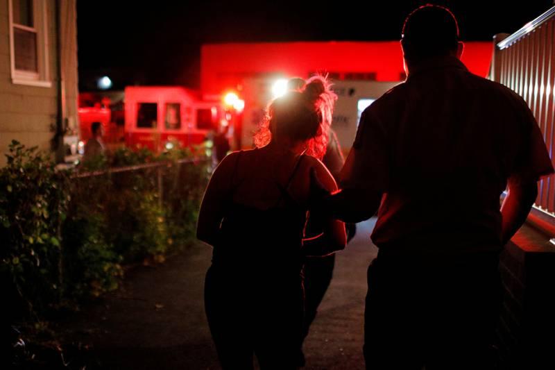 En 39 år gammel kvinne etter en opioidoverdose i Salem i Massachusetts.
