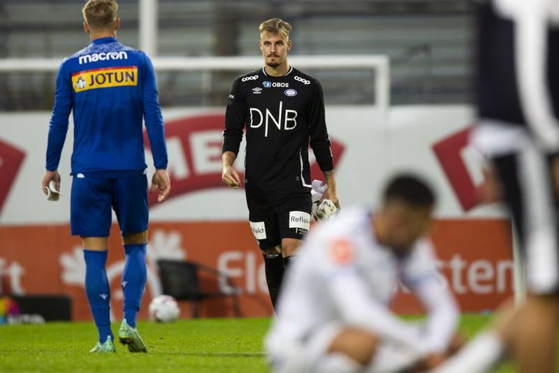 Vålerengas keeper Kjetil Haug var den eneste som spilte på høyt nivå mot Sandefjord.