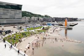 Operastranda åpnet, men ferdigstillelsen av Bjørvika må vente til 2025