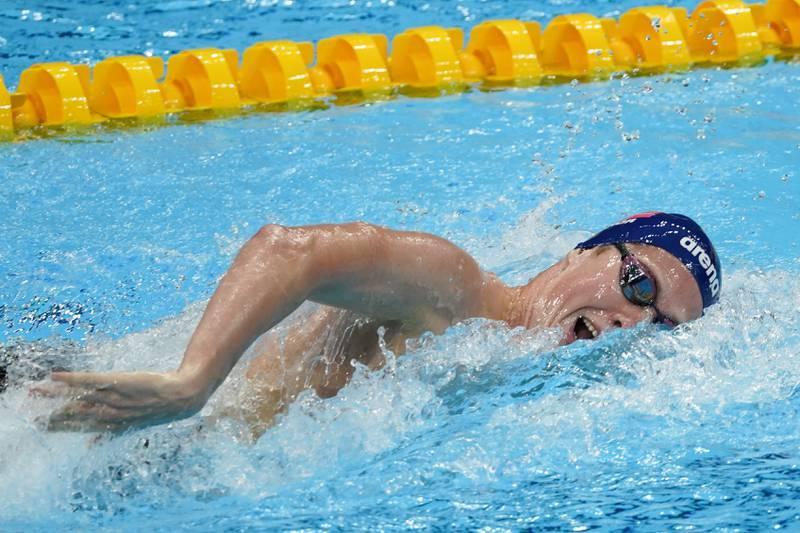 Henrik Christiansen under 1500-meteren. Foto: Heiko Junge / NTB