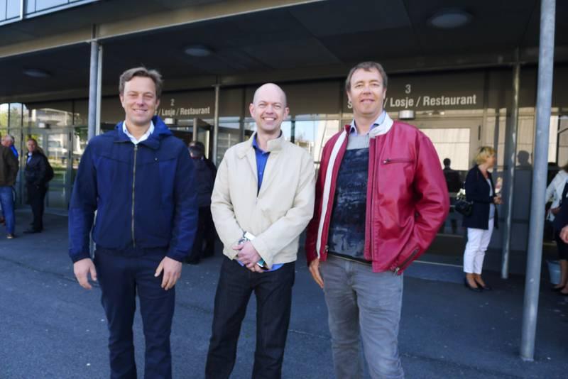 Remi Holand, Lars Lermo og Ivan Rott gleder seg til å høre Mark Knopfler for første gang i Stavanger.